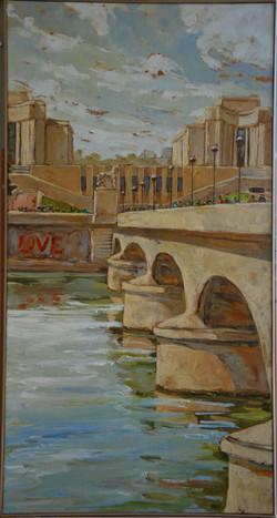 Paris, quai Love - 60x114