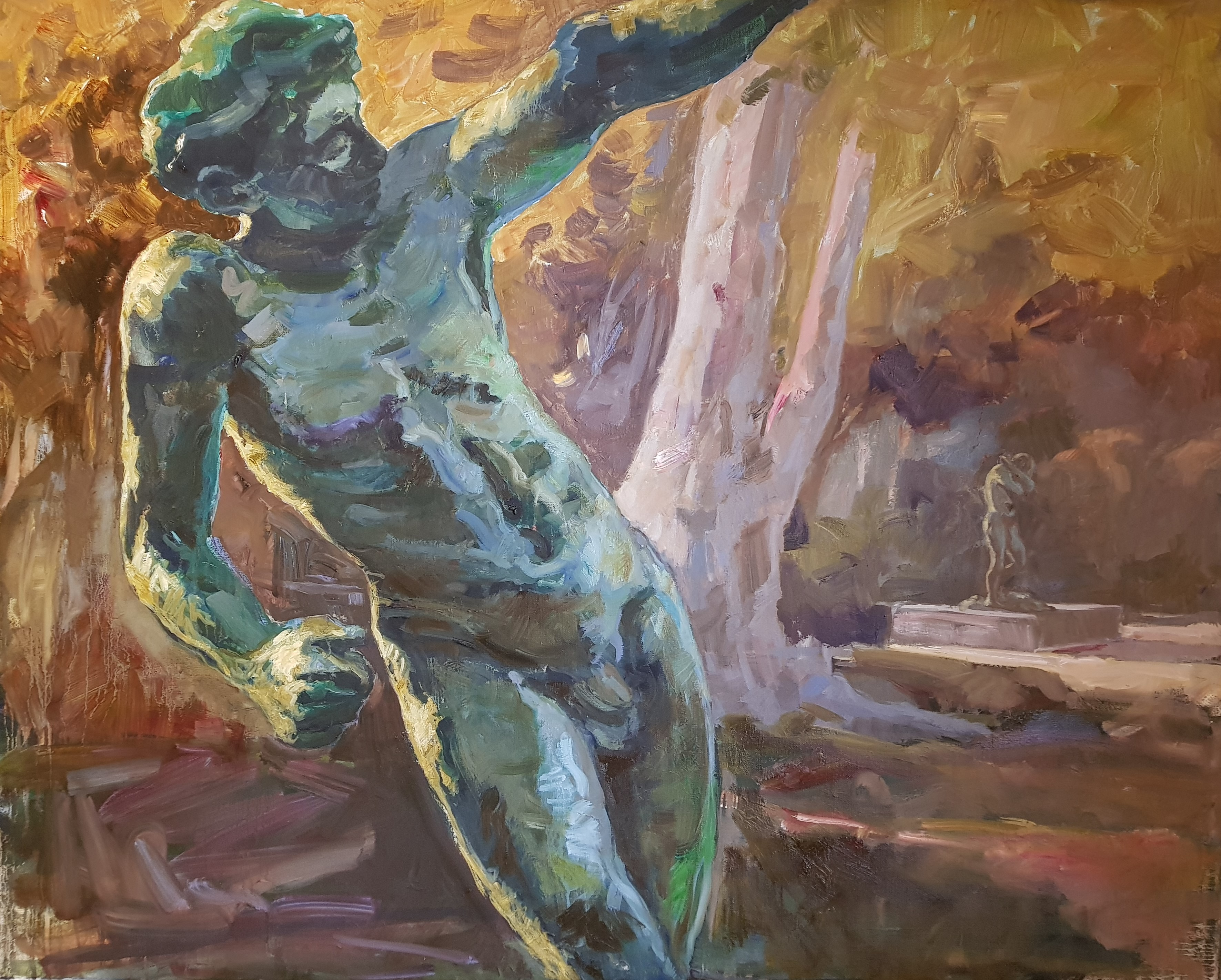 Le Génie, Rodin, Automne - 100 x 80