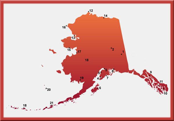 Alaska weather map