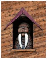 wooden walrus