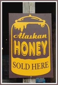 alaska honey sign