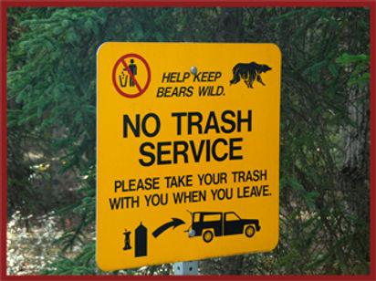 keep bears wild sign