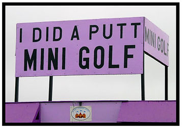 mini golf sign