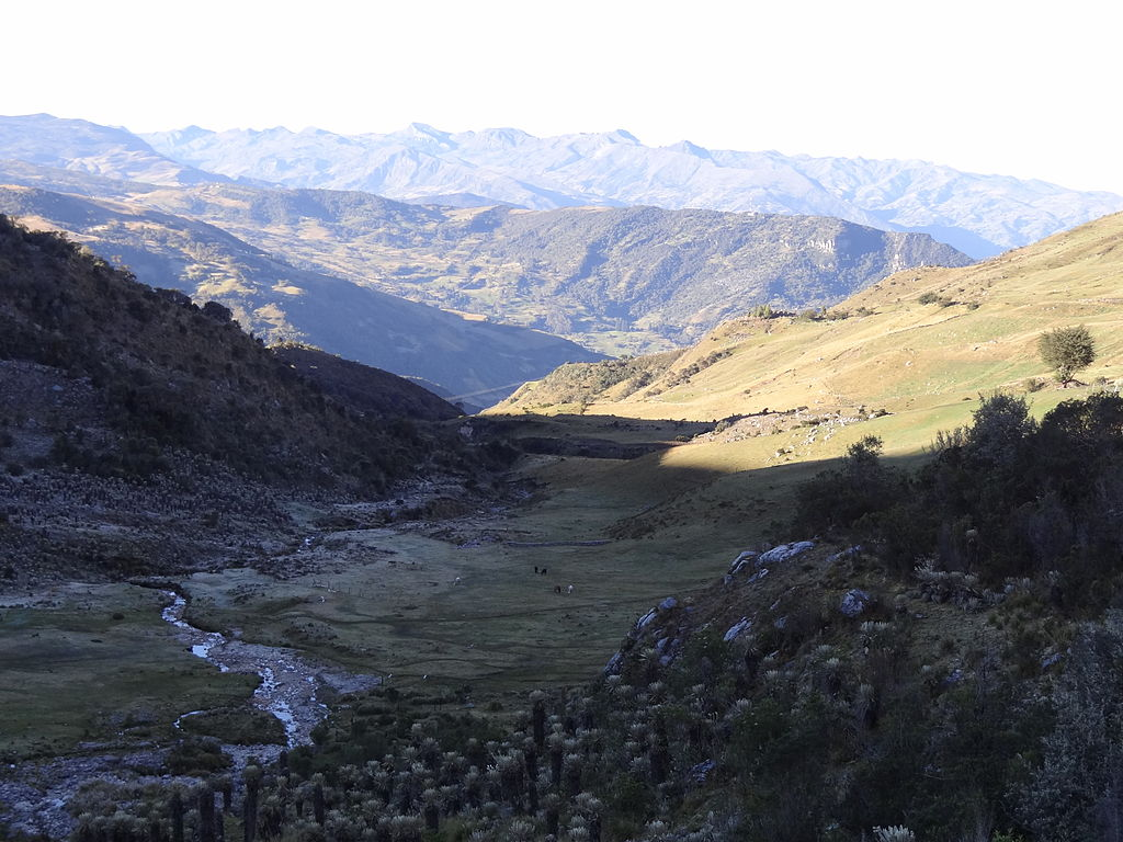 View of the Peruvian Andes