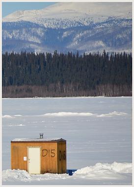 DNR Ice hut D15 Quartz Lake Alaska