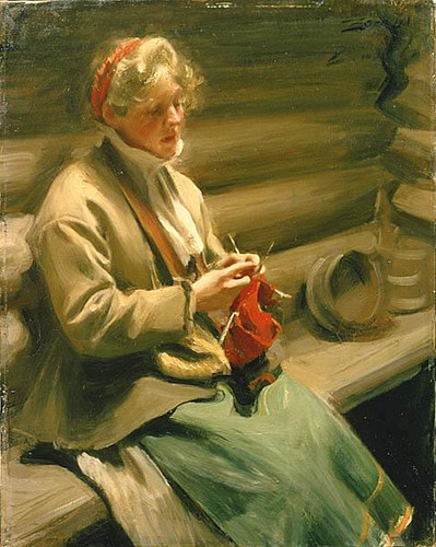 """""""Stickande"""" by Anders Zorn, 1901"""