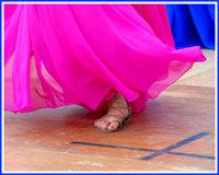 belly dancer foot