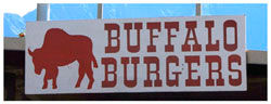 buffalo burger stand sign