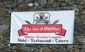 The Inn at Whittier sign
