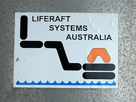 Liferaft sign