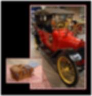 antique car with picnic basket