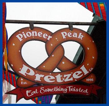 pretzel stand sign