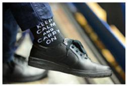 keep calm sock