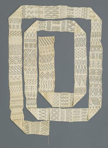 Knitted Sampler circa 1890