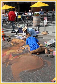 sidewalk chalk artists