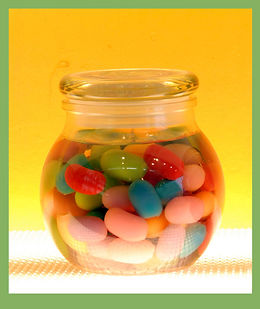 jellybean candle