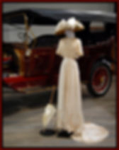 vintage dress and automobile