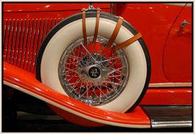 spare tire on a 1933 Auburn