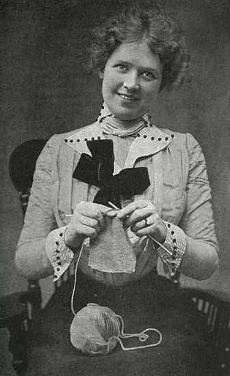 A Woman Knitting