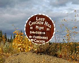 Lost Chicken Hill Mine sign