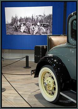 car & photo in antique car museum