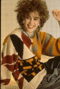 1980's Style Intarsia Sweater