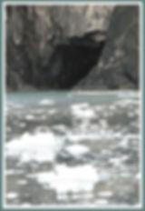 glacier ice near cave