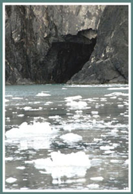 glacier ice near cave
