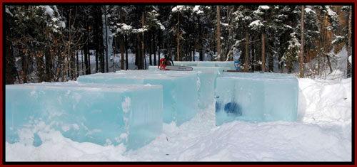 giant ice blocks