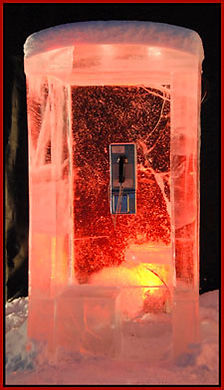 Ice telephone booth