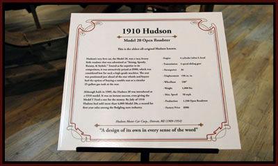 1910 Hudson information sign