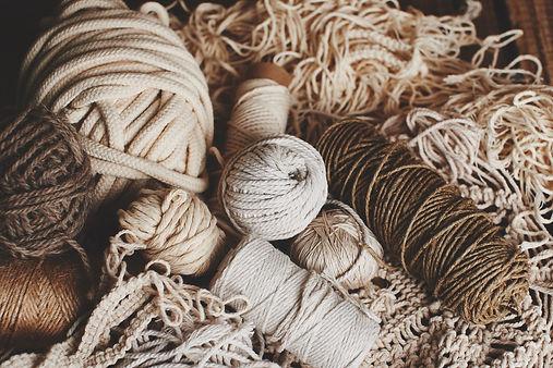 brown natural knitting yarns