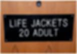 life jackets sign