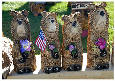 wood carved bears