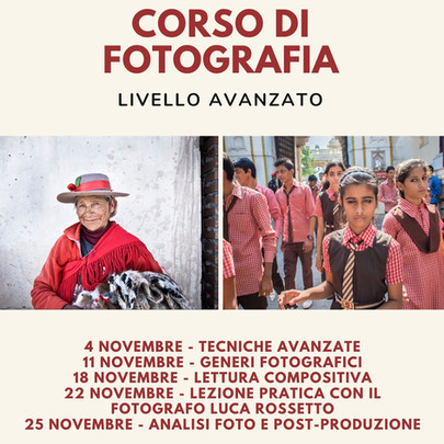 Corso di fotografia vicino Montebelluna (TV) - Livello avanzato novembre 2020
