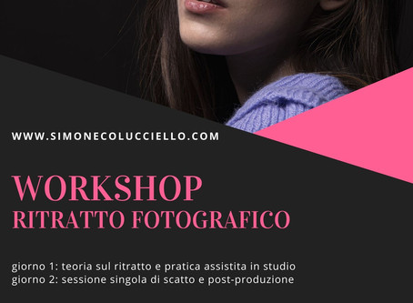 Corso di ritratto fotografico a Treviso - Inverno 2020