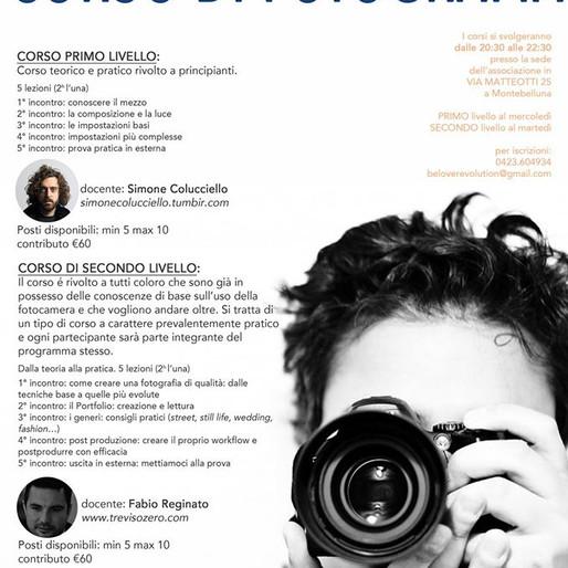 Corso di fotografia, primo livello: Montebelluna (TV) 5 aprile - 30 aprile 2017