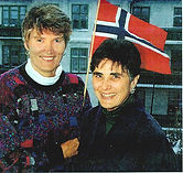 Grethe Cammermeyer and Diane Devilbess in Norway.
