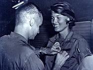 Lt. Cammermeyer receiving the Bronze Star for her service in Viet Nam.