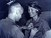 Lt. Cammermeyer receiving the Bronze Star for her service in Viet Nam.
