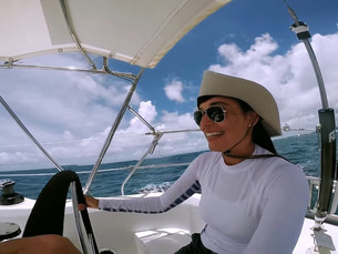 Curso de Sailing em Puerto Rico, primeira aula!