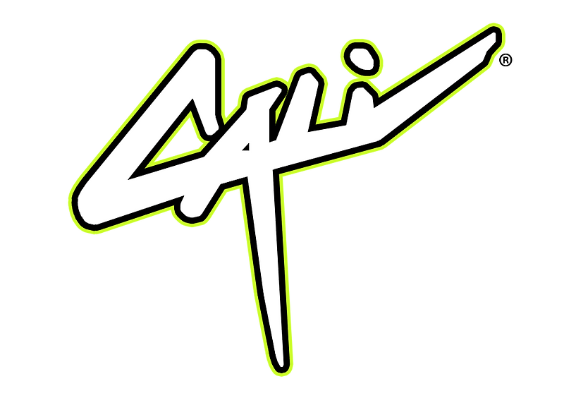 Logo Retro Cali Neon Yellow Carte de vis