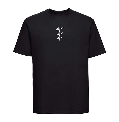 """T-shirt """"Triple"""" Noir"""