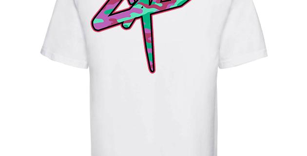 """T-shirt Cali """"Camo"""" Blanc"""