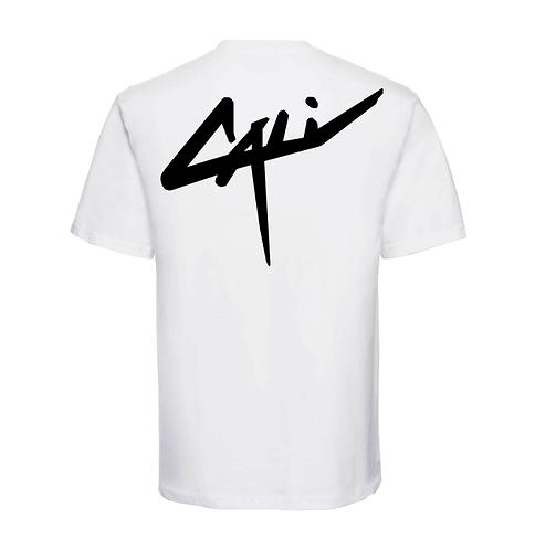 "T-shirt ""Back Cali"" Blanc"