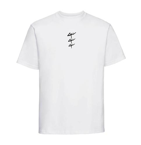 """T-shirt """"Triple"""" Blanc"""
