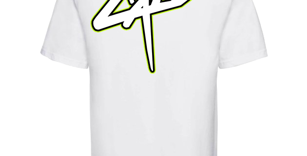 "T-shirt blanc Cali ""Back Side"""