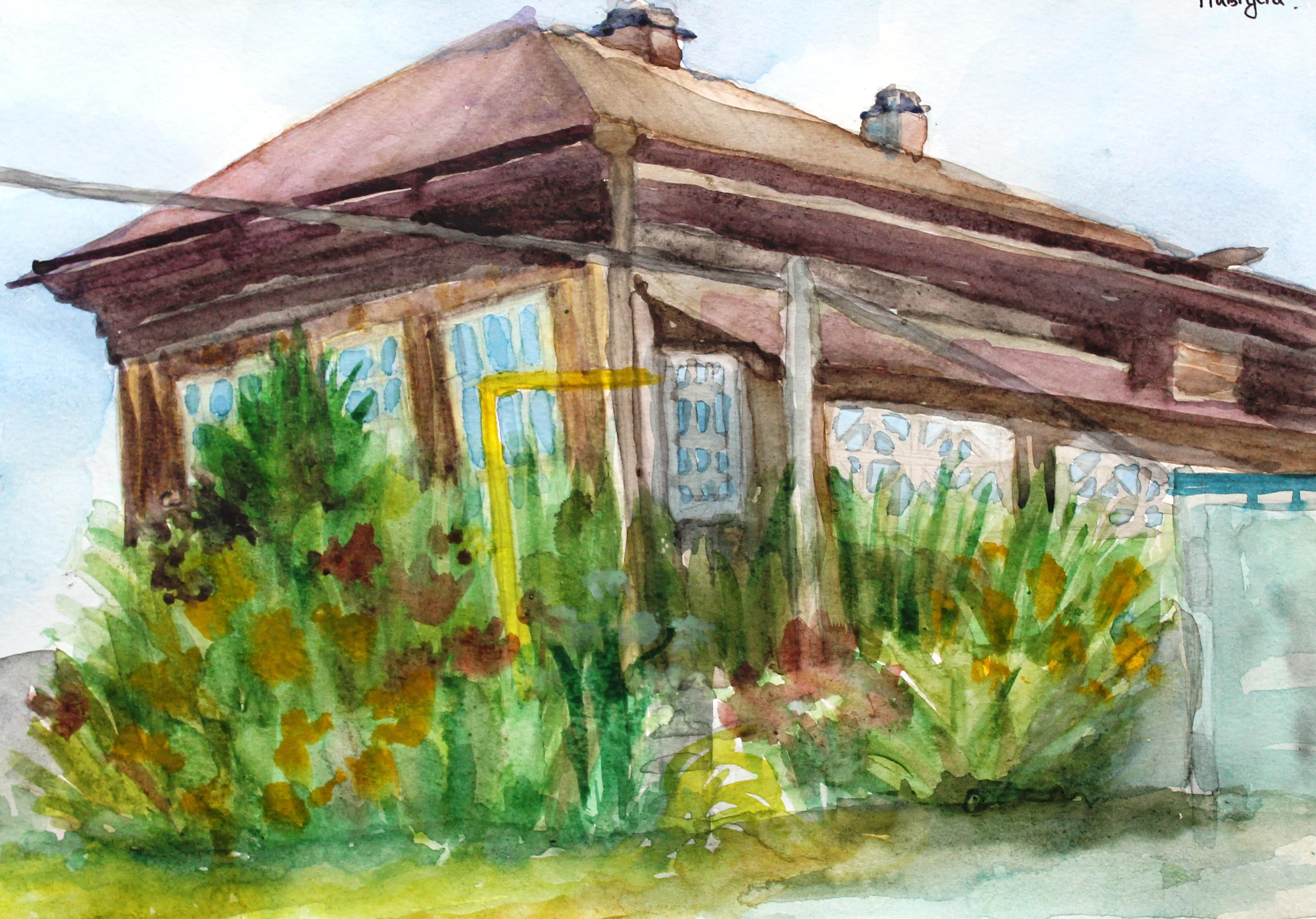 Доманская Анна, 13 лет, Старый дом, на у