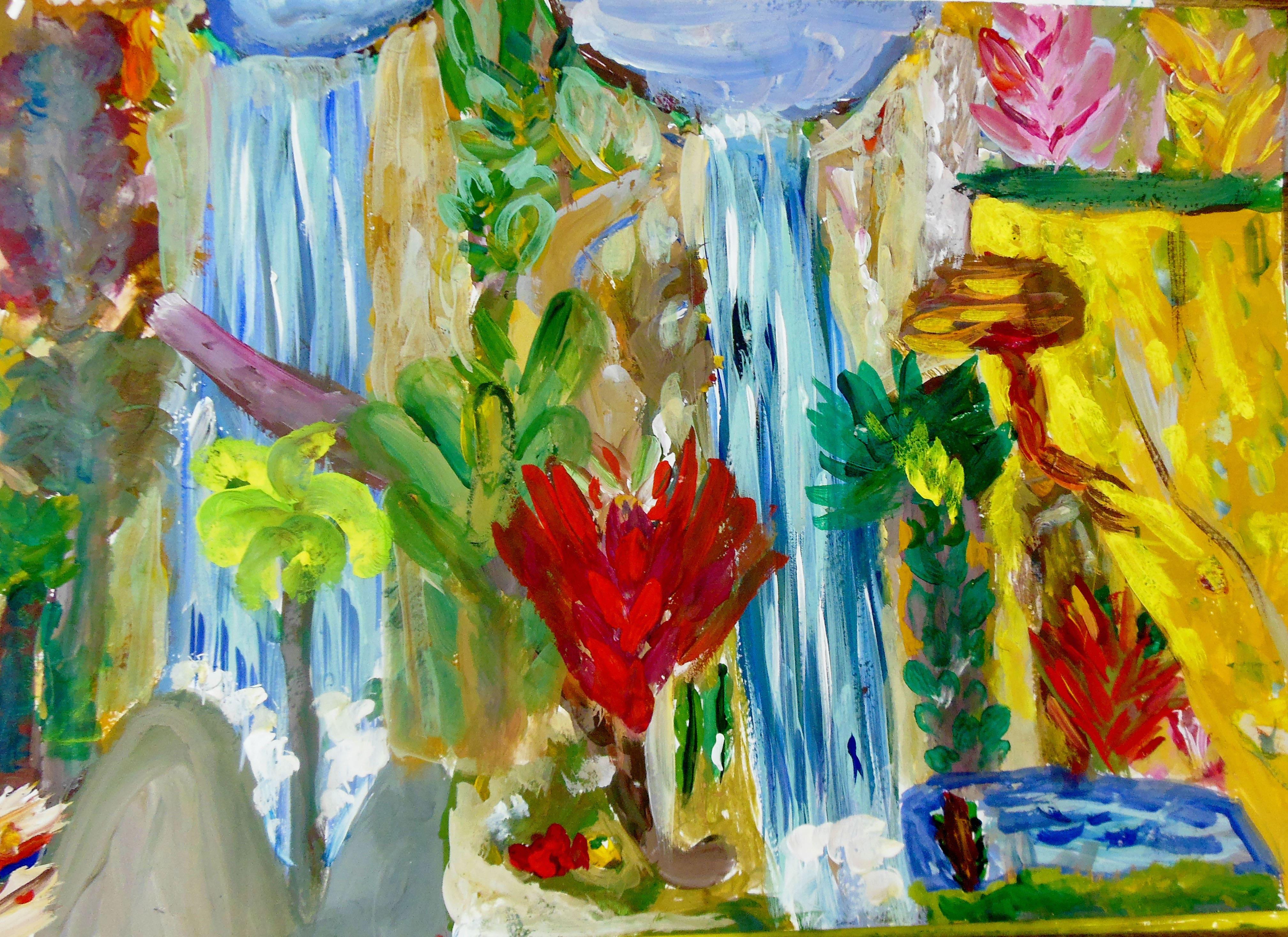 Фараонова Ульяна 5 л Два водопада весной