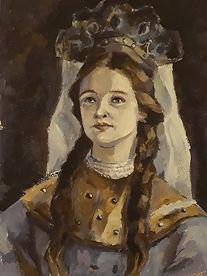 Захарова Ульяна, 17 лет, копия с полотна